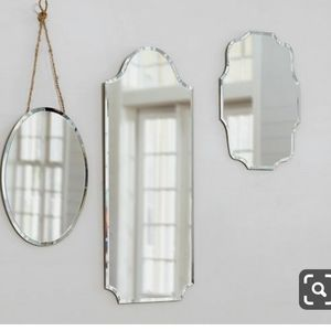 Decorative small mirrors set wall decor accent